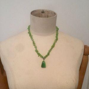 Jewelry - Green Like Sea Glass Stone Necklace